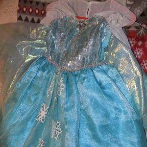 Disney Elsa Dress, Shoes, & Tearra Crown sz. 7/8